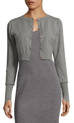 DKNY Extra Long Sleeve Cropped Cardigan $198 thestylecure.com