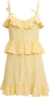 For Love & Lemons Limoncello Mini Dress