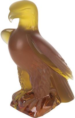 Lalique Liberty Eagle Sculpture - Amber