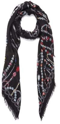 Alexander McQueen Chandelier Skull modal-wool scarf