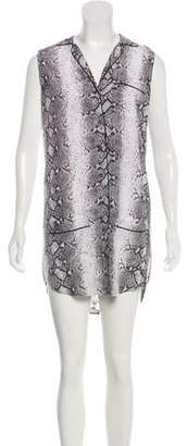 Equipment Silk Sleeveless Mini Dress