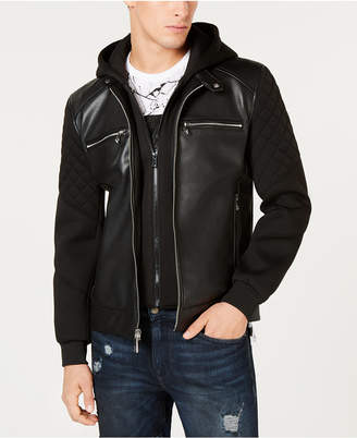 Guess Mens Faux Leather Jacket Shopstyle