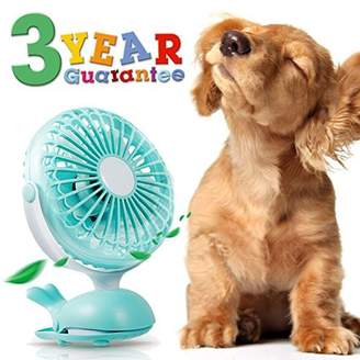 Battery Operated Clip Fan Stroller Fan for Baby Portable Silent USB Fan Mini Personal Desk Fan Cute Design Rechargeable Battery Fans Adjustable Tilt Quiet Operation for Treadmill Dorm Bed Tent Camp