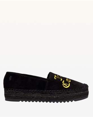 Juicy Couture Pitch Black Yolanda Velvet Espadrille