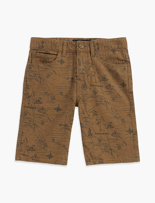Lucky Brand 5 POCKET PRINTED CANVAS SHORT