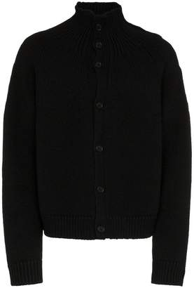 Yohji Yamamoto high neck wool cardigan