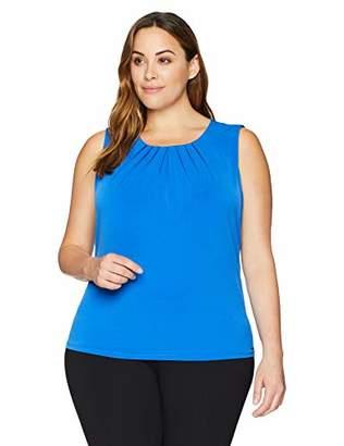 Calvin Klein Women's Plus Size Printed Pleat Neck Cami