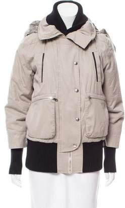 Rebecca Minkoff Rabbit Fur Trim Jacket