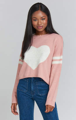 Show Me Your Mumu Cropped Varsity Sweater ~ I Heart Mu Knit