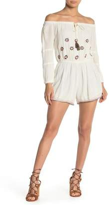 Raga Chasing the Sun Off-the-Shoulder Romper