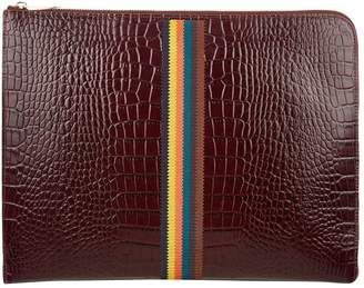 Paul Smith Leather Croc Effect Document Case