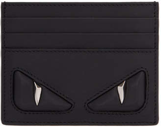 Fendi Black 3D Bag Bugs Card Holder