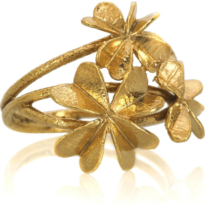 Alex Monroe Clover ring