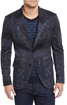 Etro Men's Graphic-Print Sport Coat Jacket