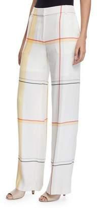 Equipment Arwen High-Waist Multi-Stripe Silk Trousers