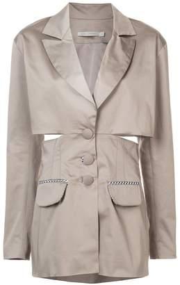 Silvia Tcherassi cut-out short trench coat