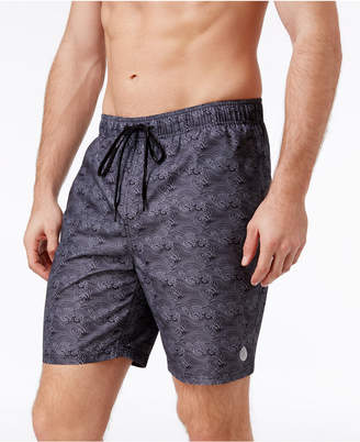 Calvin Klein Men's Wave-Print Swim Trunks, 7'' $49.50 thestylecure.com