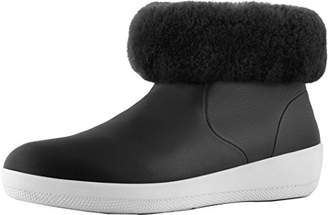 FitFlop Women's SKATEBOOTIE Leather Boots with Shearling Ankle