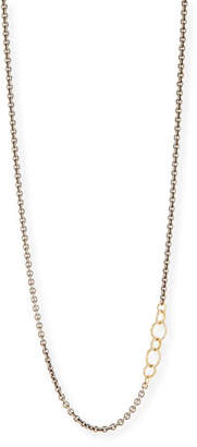 Armenta Old World Blackened Chain Necklace with Champagne Diamonds