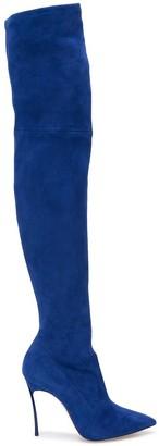 Casadei knee-length stiletto boots