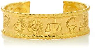Jean Mahie 22K Yellow Gold Zodiac Cuff Bracelet