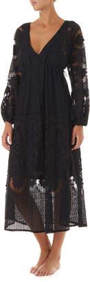 Melissa Odabash Melissa Lace Long-Sleeve Coverup Dress