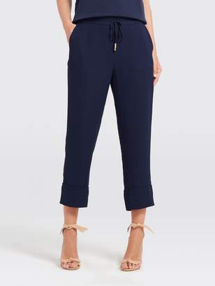 Draper James Navy Crepe Pant