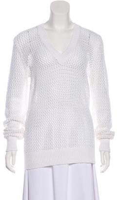 Michael Kors Crocheted Open Knit Sweater