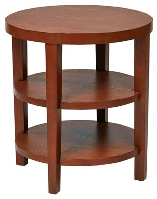 """Office Star Work Smart by Products Merge 20"""" Round End Table, Cherry"""