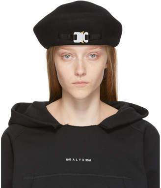 Alyx SSENSE Exclusive Black Wool Bardot Beret