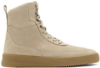 Filling Pieces Beige Andes Evora High-Top Sneakers