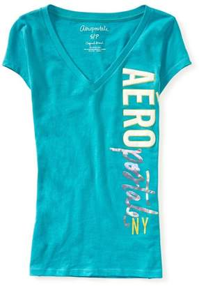 Aeropostale Womens Ny Graphic T-Shirt L