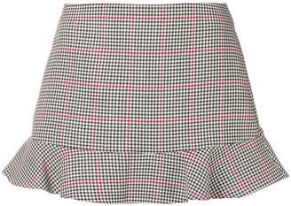 RED Valentino Prince of Wales check mini skirt