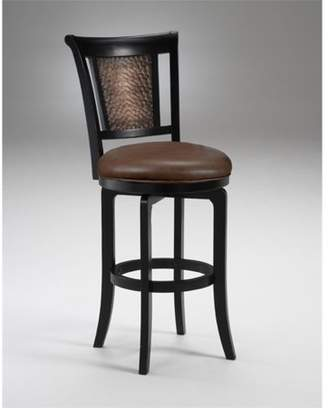"Hillsdale Furniture Cecily 30.5"" Faux Leather Bar Stool in Black Honey"