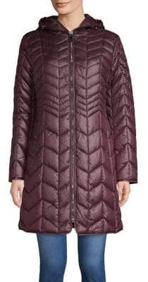 Kenneth Cole New York Quilted Chevron Coat