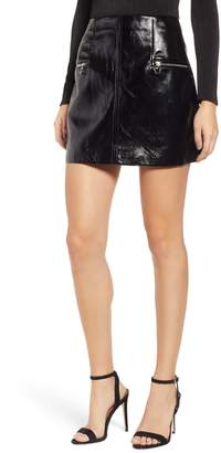 Blank NYC BLANKNYC Faux Patent Leather Miniskirt