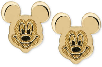 Disney Children's Mickey Mouse Head Stud Earrings in 14k Gold
