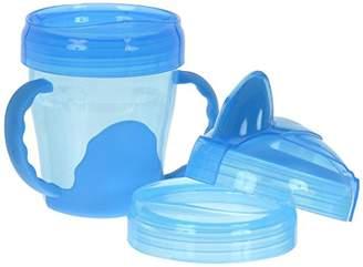 Vital Baby Healthcenter 492070-01 - Gobelet d'Apprentissage à Anses - 3-en-1 - Bleu - 200 ml