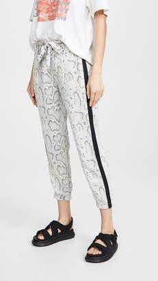 Pam & Gela Snake Print Tie Pants