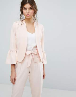 Oasis Fluted Sleeve Blazer $79 thestylecure.com