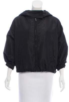 Prada Hooded Short Sleeve Jacket