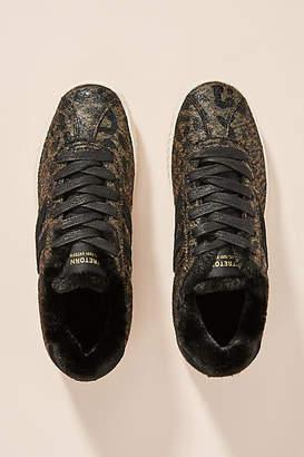 Tretorn Leopard-Printed Faux Shearling Sneakers