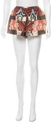Thakoon Printed Mini Shorts