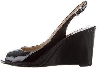 Michael Kors Patent Leather Wedge Pumps