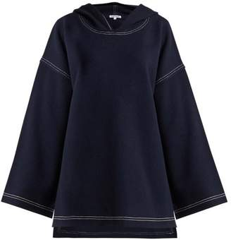 Elizabeth and James Benson Topstitch Felt Top - Womens - Navy