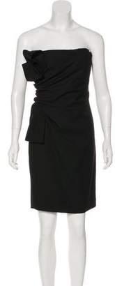 Valentino Virgin Wool Strapless Dress