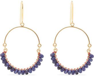 Isabel Marant Gold-tone Bead Earrings - Navy
