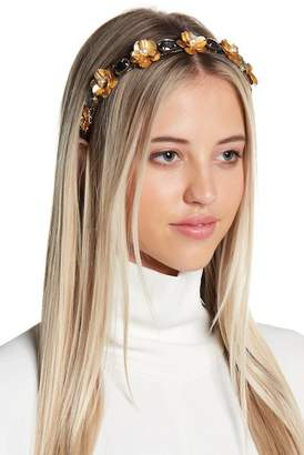 Cara Accessories Floral Rhinestone Headband