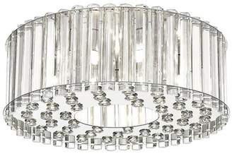 "Ove Decors 15LFM-VICT16 Victory 5 Light 16"" Wide LED Flush Mount Drum Ceiling Fixture"