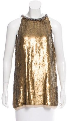 Rachel Roy Embellished Silk Top w/ Tags $50 thestylecure.com